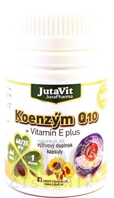 JuvaPharma Kft. JutaVit Koenzým Q10 + vitamín E plus cps 1x66 ks