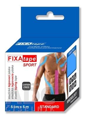 FIXAtape SPORT STANDARD KINESIOLOGY elastická tejpovacia páska ružová, 5 cm x 5 m 1x1 ks