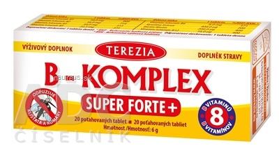 TEREZIA COMPANY s.r.o. TEREZIA B-KOMPLEX SUPER FORTE+ tbl 1x20 ks 20 ks