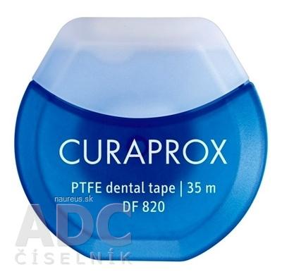 CURAPROX DF 820 PTFE zubná niť s chlorhexidínom, 35 m, Gleit, 1x1 ks