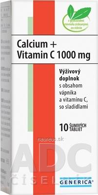 GENERICA spol. s r.o. GENERICA Calcium + Vitamin C 1000 mg 10 ks