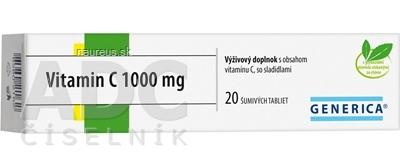GENERICA spol. s r.o. GENERICA Vitamin C 1000 mg tbl eff 1x20 ks 20 ks