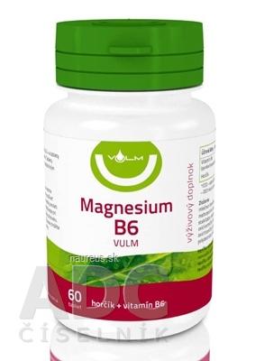 VULM s.r.o. VULM Magnesium B6 tbl flm (horčík + vitamín B6) 1x60 ks 60 ks