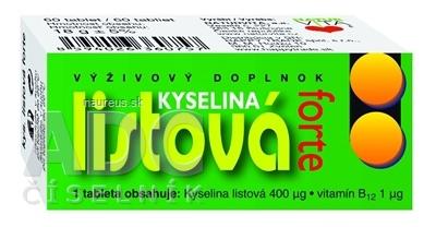 NATURVITA, a.s. NATURVITA KYSELINA LISTOVÁ FORTE tbl 1x60 ks 60 ks