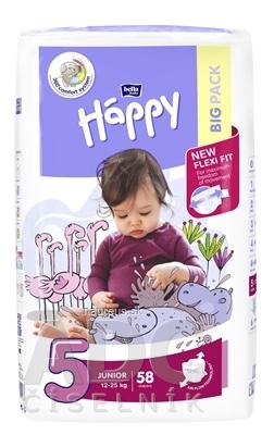Torunskie Zaklady Materialow Opatrunkowych S.A. bella HAPPY 5 JUNIOR detské plienky (12-25 kg) 1x58 ks