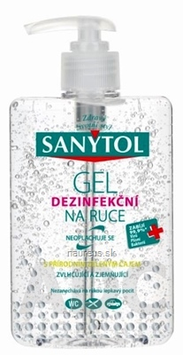 SANYTOL GÉL dezinfekčný na ruky 1x250 ml