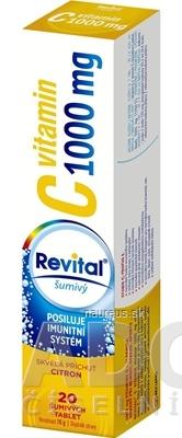 VITAR s.r.o. Revital vitamín C 1000 mg šumivý tbl eff s príchuťou citrón 1x20 ks 20 ks