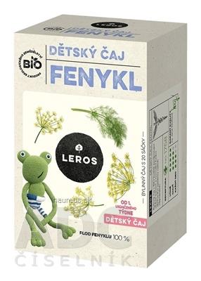LEROS, s r.o. LEROS BIO DETSKÝ ČAJ FENIKEL nálevové vrecká (od 1+ týždňa) (inov. 2021) 20x1,5 g (30 g)