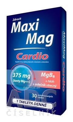 NP PHARMA Sp. z o.o. Zdrovit MaxiMag CARDIO Mg 375 mg + B6 tbl s extraktom z hlohu a srdcovníka 1x30 ks 30 ks