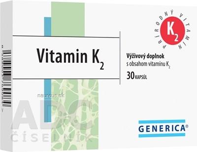 GENERICA spol. s r.o. GENERICA Vitamin K2 30 ks
