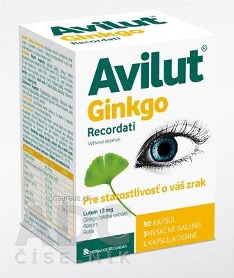 Herbacos Recordati s.r.o. AVILUT Ginkgo Recordati cps 1x90 ks 190kg