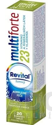 VITAR s.r.o. Revital multiforte šumivý tbl eff s príchuťou tropické ovocie 1x20 ks 20 ks