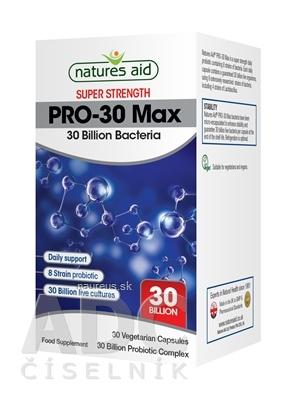 Natures Aid Ltd. Natures Aid PRO-30 Max probiotiká (30 miliárd, 8 kmeňov) cps 1x30 ks 30 ks