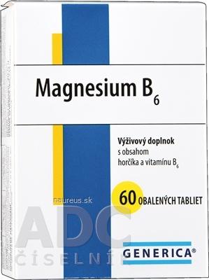 GENERICA spol. s r.o. GENERICA Magnesium B6 tbl 1x60 ks 60 ks