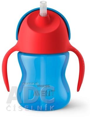 Philips Avent AVENT HRNČEK so slamkou 200 ml (0% BPA) od 9 mesiacov, s držadlami, chlapec, 1x1 ks 200 ml