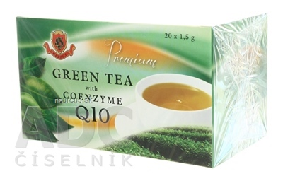 HERBEX spol. s r.o. HERBEX Premium GREEN TEA S Q10 zelený čaj 20x1,5 g (30 g) 20 ks