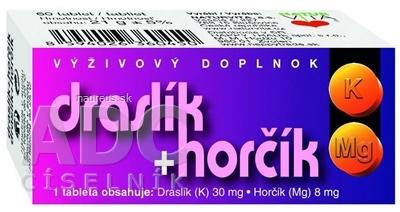 NATURVITA, a.s. NATURVITA DRASLÍK + HORČÍK tbl 1x60 ks 60 ks