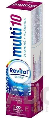 VITAR s.r.o. Revital multi 10 vitamínov + vláknina šumivý tbl eff s príchuťou malina 1x20 ks 20 ks