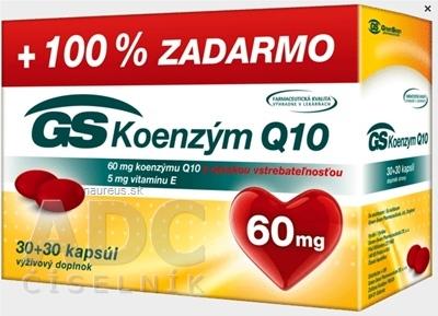 GREEN - SWAN PHARMACEUTICALS CR, a.s. GS Koenzým Q10 60 mg cps 30+30 zadarmo (60 ks)