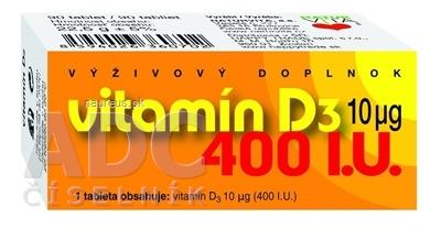 NATURVITA, a.s. NATURVITA VITAMÍN D3 10 μg (400 I.U.) tbl 1x90 ks 90 ks