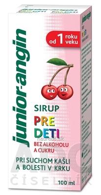 MPC International S.A. Junior-angin sirup pre deti s čerešňovou príchuťou 1x100 ml 100 ml