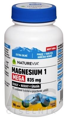 VALEANT Canada Consumer Products SWISS NATUREVIA MAGNESIUM 1 MEGA 835 mg tbl 1x90 ks 90 ks