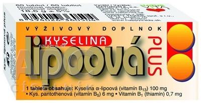 NATURVITA, a.s. NATURVITA KYSELINA LIPOOVÁ PLUS tbl 1x60 ks 60 ks