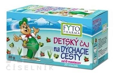 FYTOPHARMA, a.s. FYTO DETSKÝ ČAJ na DÝCHACIE CESTY bylinný (od 6 mesiacov) 20x1,5 g (30 g)