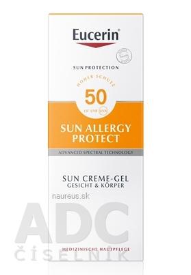 Eucerin SUN ALLERGY PROTECT SPF 50 ochranný krémový gél na opaľovanie proti alergii na slnko 1x150 ml