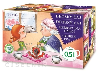 HERBEX spol. s r.o. HERBEX DETSKÝ ČAJ rozprávkový bylinný čaj 20x3 g (60 g) 20 x 3 g