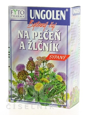 FYTOPHARMA, a.s. FYTO UNGOLEN Bylinný čaj NA PEČEŇ A ŽLČNÍK SYPANÝ 1x50 g 50 g