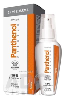 Simply You Pharmaceuticals a.s. SWISS Panthenol PREMIUM spray (s aloe) 150+25 ml zadarmo (175 ml) 175 ml