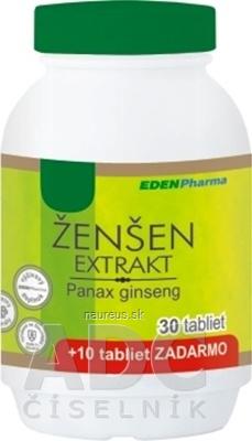 EDENPharma, s.r.o. EDENPharma ŽENŠEN extrakt tbl 30+10 zadarmo (40 ks) 40 ks