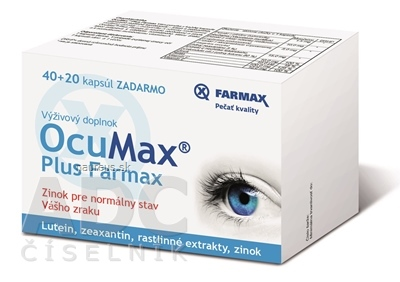 SVUS Pharma a.s. FARMAX OcuMax Plus cps 40+20 zadarmo (60 ks) 60 ks