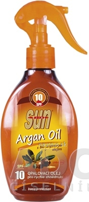 SUN ARGAN OIL opaľovací OLEJ SPF 10 1x200 ml