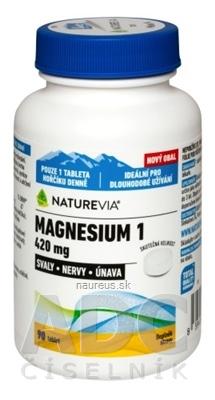 VALEANT Canada Consumer Products SWISS NATUREVIA MAGNESIUM 1 - 420 mg tbl 1x90 ks 90 ks