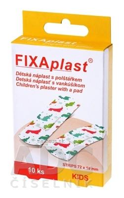 ALFA VITA, s.r.o. FIXAplast KIDS strip detská náplasť s vankúšikom 72x19 mm, 1x10 ks 10 ks