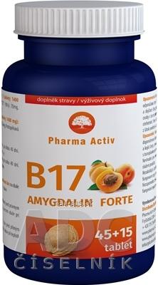 Natural Pharm Slovakia s.r.o. Pharma Activ Amygdalin Forte Vitamín B17 tbl 45+15 zdarma (60 ks)