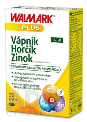 WALMARK, a.s. WALMARK Vápnik Horčík Zinok OSTEO 30 ks