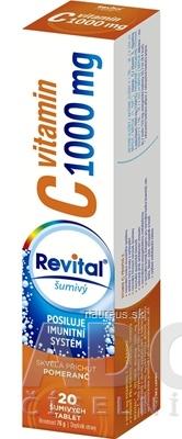 VITAR s.r.o. Revital vitamín C 1000 mg šumivý tbl eff s príchuťou pomaranč 1x20 ks 20 ks