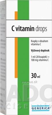 GENERICA spol. s r.o. GENERICA C vitamin drops 1x30 ml 30 ml