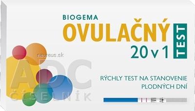 W.H.P.M.BIORESEARCH and TECHNOLOGY CO.LtD. BIOGEMA OVULAČNÝ TEST 20 v 1 rýchly test na stanovenie plodných dní 1x20 ks
