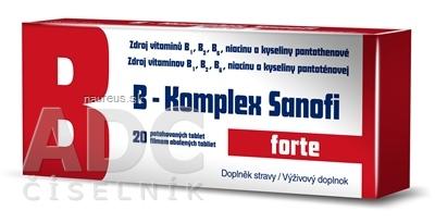 Zentiva, k.s. B-Komplex forte Sanofi tbl flm 1x20 ks 20 ks