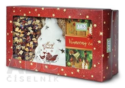 FYTO Darčeková kazeta Vianočný čaj sypaný 100 g + porciovaný 20x2 g (40 g) + svietnik, 1x1 set