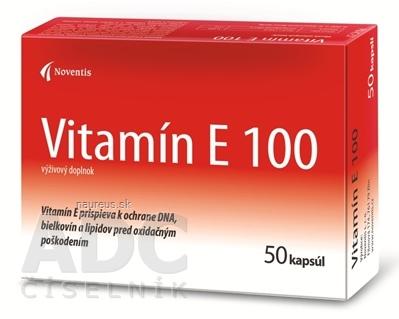 Noventis s.r.o. Noventis Vitamín E 100 cps 2x25 ks (50 ks) 50 ks