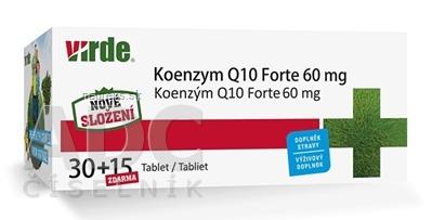 VIRDE spol. s r.o. VIRDE KOENZYM Q10 Forte 60 mg tbl 30+15 zdarma (45 ks) 45 ks