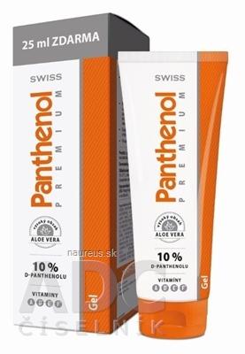 Simply You Pharmaceuticals a.s. SWISS Panthenol PREMIUM gél (s nechtíkom a aloe) 100+25 ml zadarmo (125 ml) 100 ml