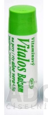 Vitalos s.r.o. VITALOS Balzam na pery aloe vera SPF 5 vitamínový 1x1 ks 1 ks
