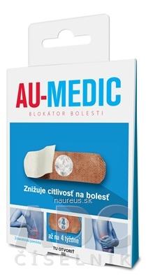 Crystal Plaster Ltd. AU-MEDIC blokátor bolesti náplasti (crystal tape) 1x4 ks 4 ks