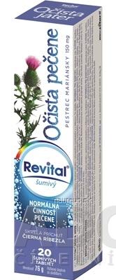 VITAR s.r.o. Revital Očista pečene + pestrec mariánsky 150 mg tbl eff s príchuťou čierna ríbezľa 1x20 ks 20 ks